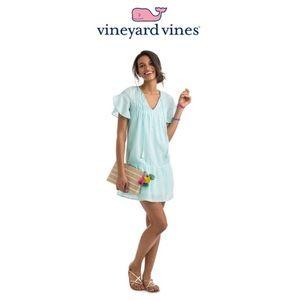 Vineyard Vines Pintucked Flutter Sleeve Dress